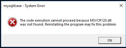 msvcr120.dll problem windows 10