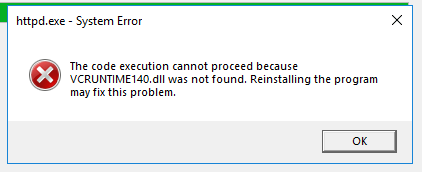 The code execution cannot proceed because MSVCP120.dll was not found