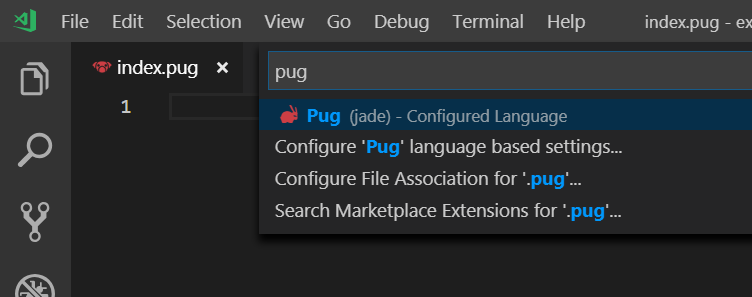 Icon For Pug Is Different For Language Mode And File Type Issue