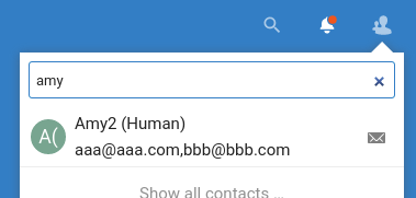 showing email address in contacts