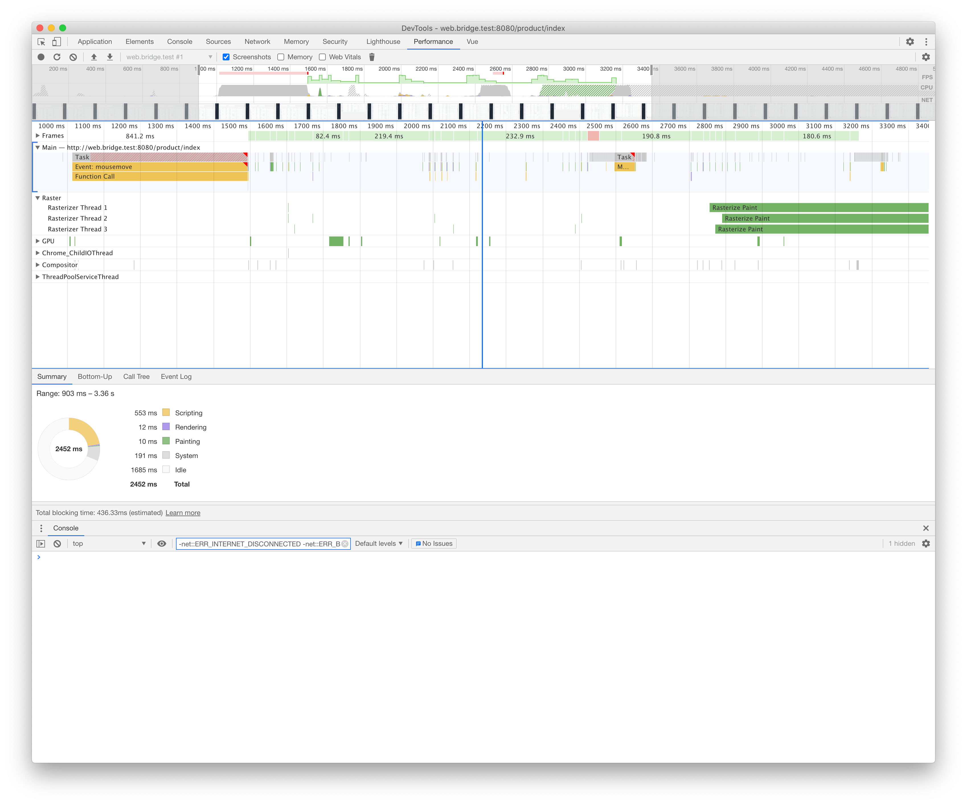 vue-tables no-sticky