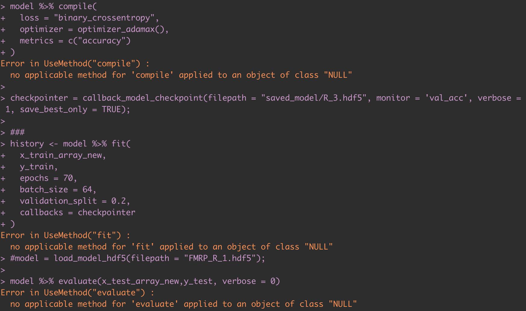 Error in UseMethod(