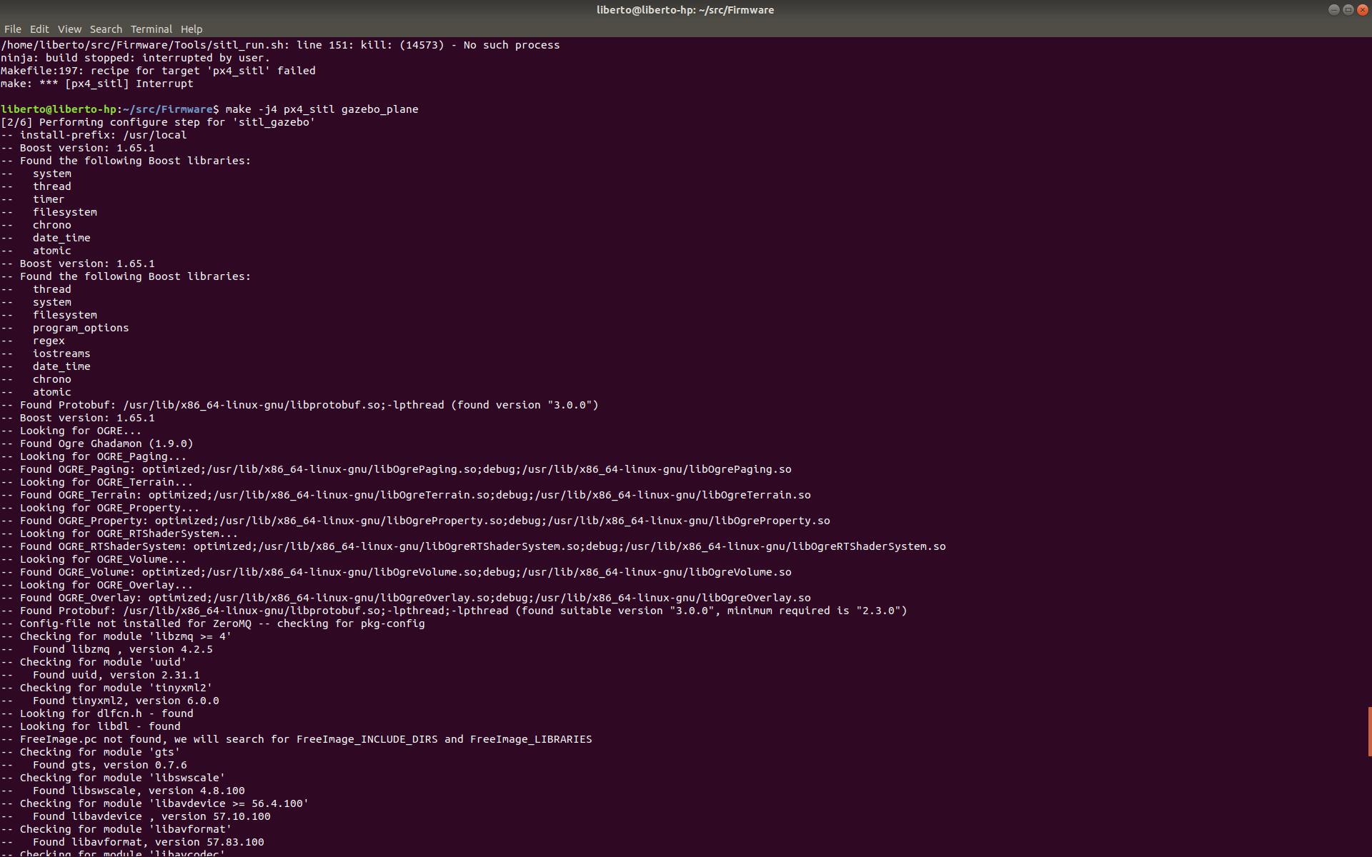 SITL, Model: plane, [Err] [gazebo_mavlink_interface cpp:1166] Error