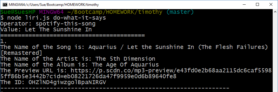 GitHub - SueJStevens/timothy: Command line node js app that