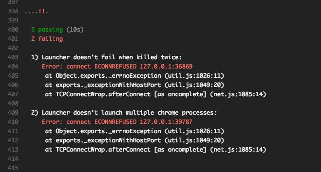 Launcher ECONNREFUSED flake · Issue #6 · GoogleChrome/chrome