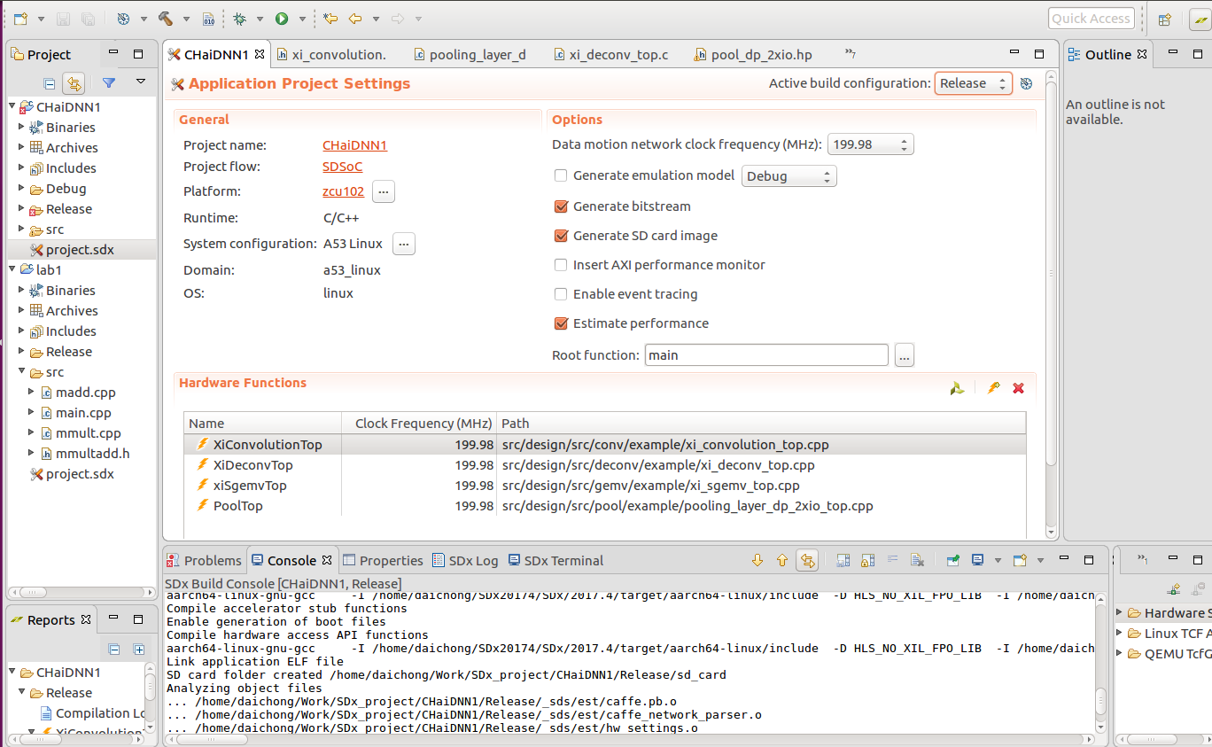 Error in running Estimate Performance in SDSoc · Issue #13