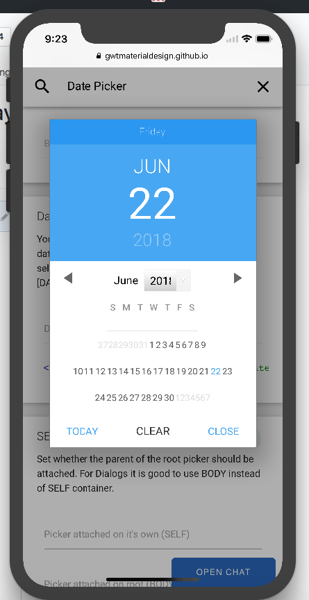 DatePicker in Mobile (IOS) - The ui is totally messed up