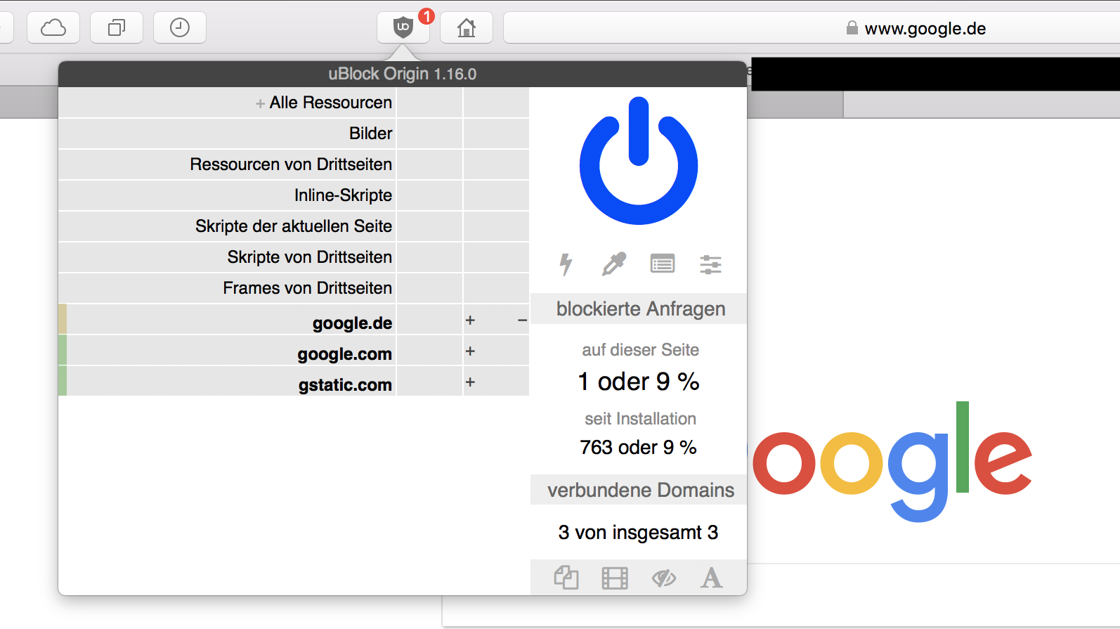 uBlock Origin - Chromium, Firefox和Safari的高效广告拦截器