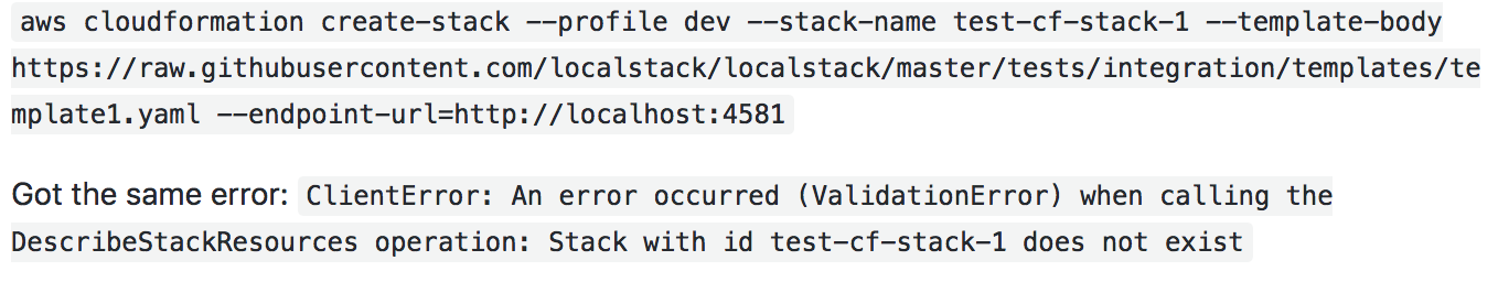 Cloudformation create-stack fails · Issue #438 · localstack