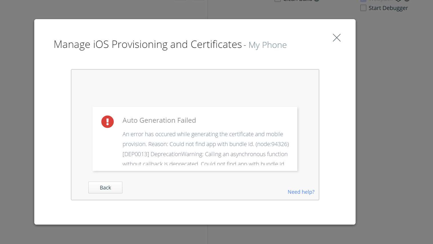 Issue with auto generating an iOS cert · Issue #283
