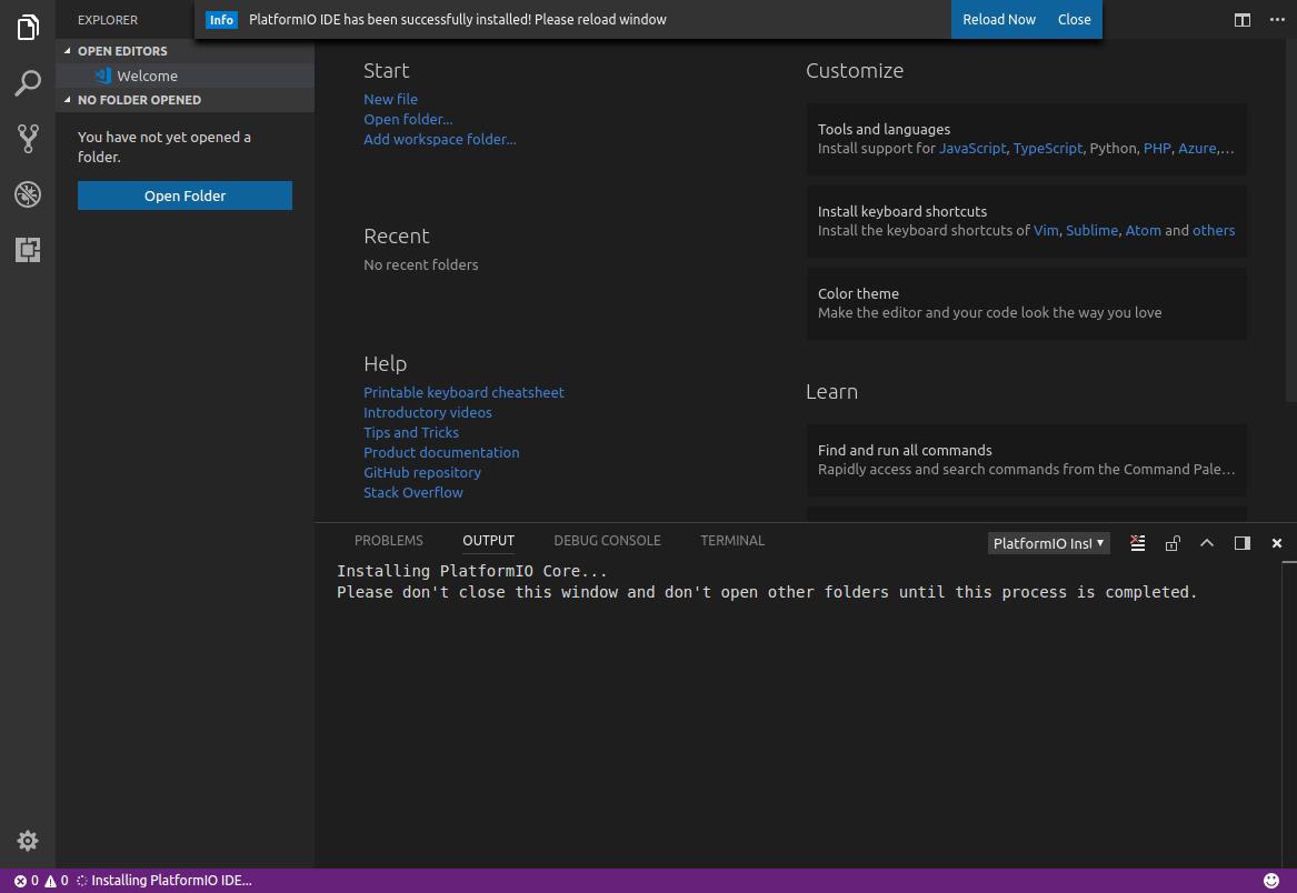 unable to install platformio extension on ubuntu · Issue #63