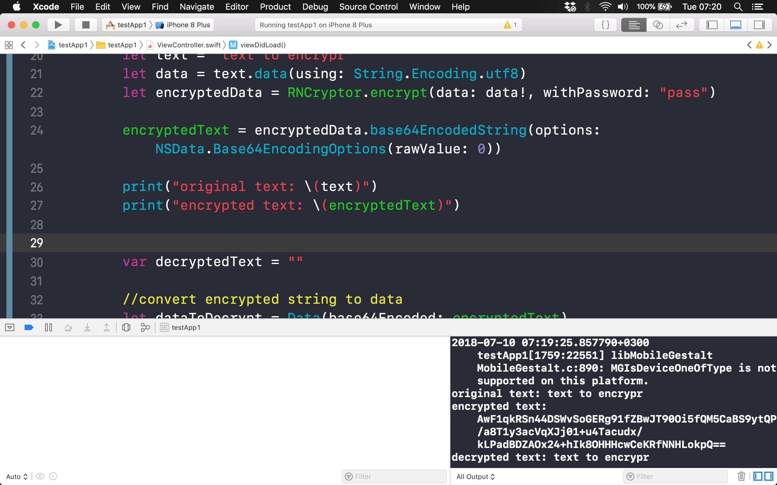 Crash on deinit of Decryptor in Xcode 10b3 · Issue #276 · RNCryptor