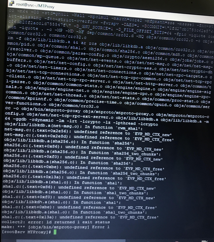 Error on building · Issue #4 · TelegramMessenger/MTProxy