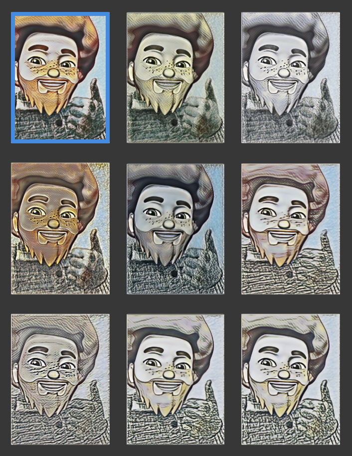 Adjust strength/amount of style transfer and/or change model