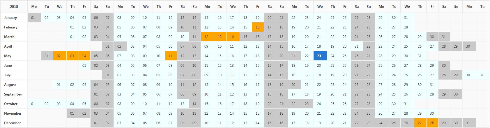 GitHub - frankiechapson/Year-Planner-Calendar: Oracle APEX Plugin