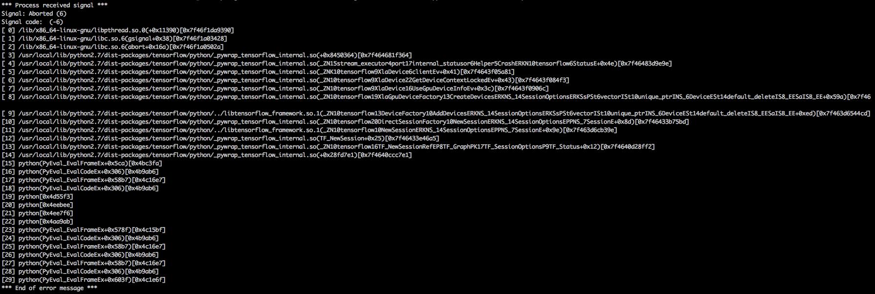 crash when using tf_nightly_gpu==1 14 1-dev20190609 · Issue