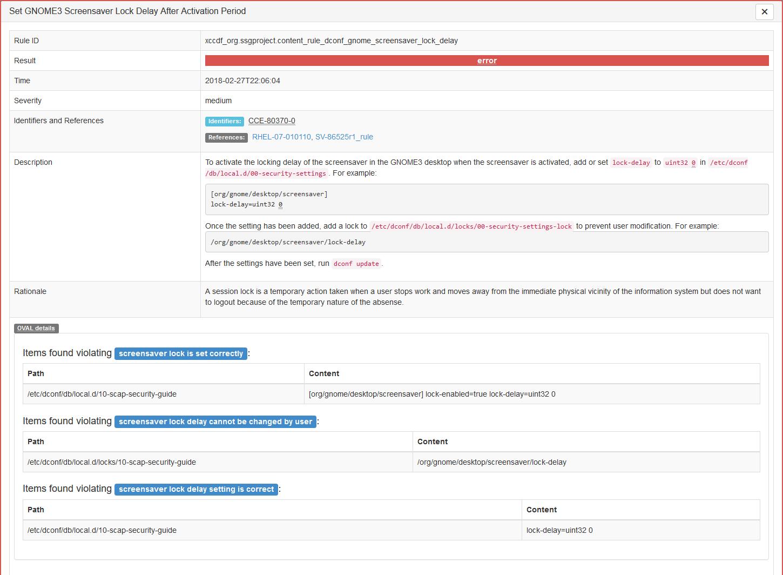 GNOME3 Screensaver Lock - Checks Error out · Issue #2631