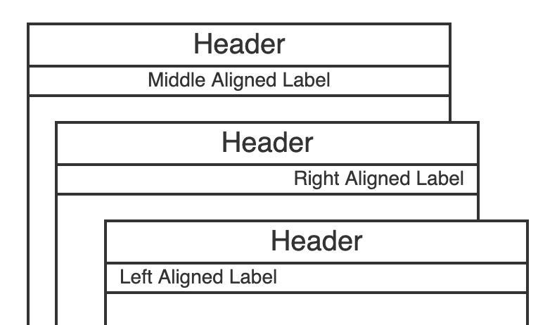Pool Label Alignment