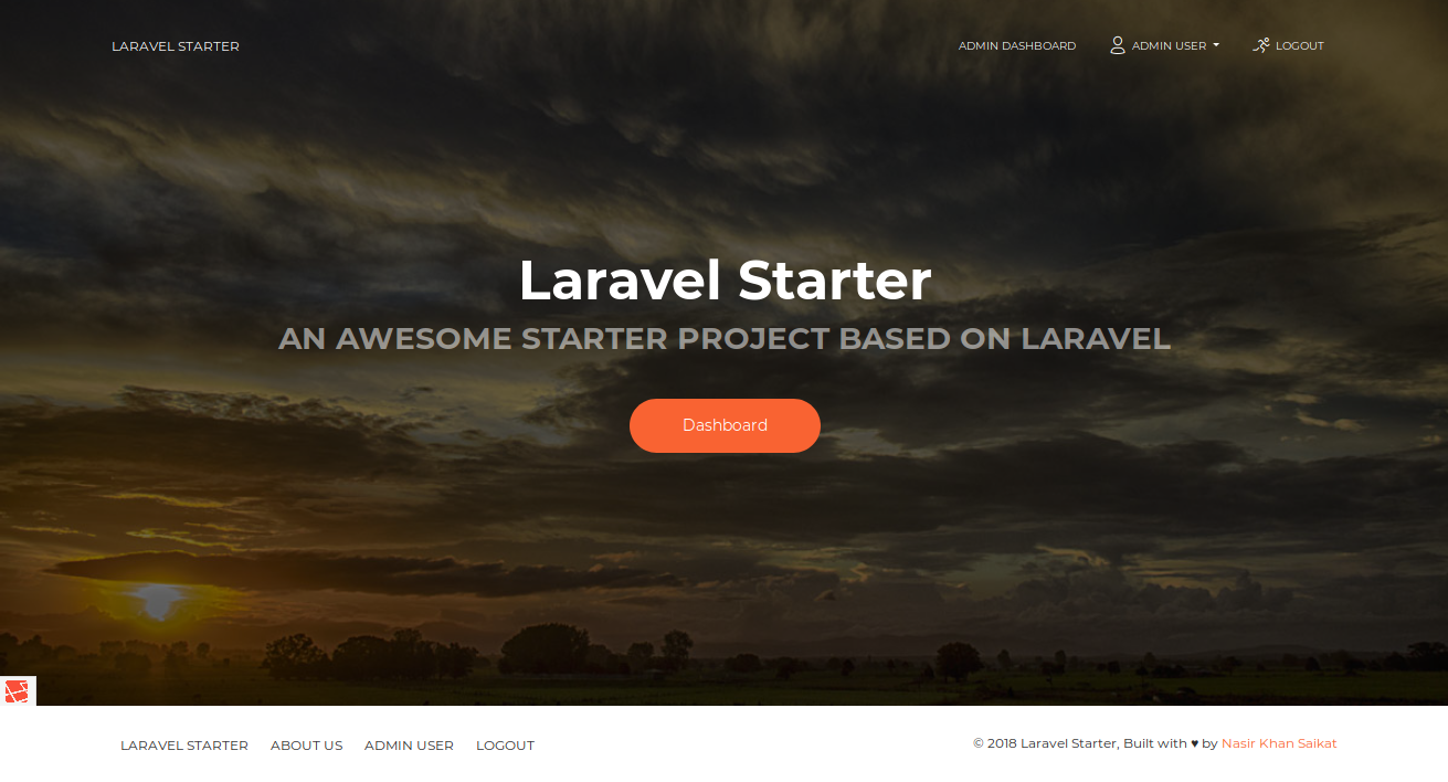 nasirkhan/laravel-starter - Packagist