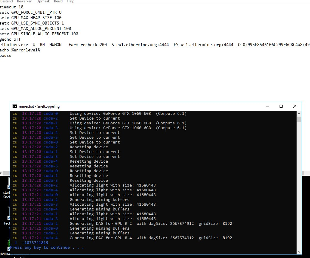 ETHminer will not start after Windows update Nvidia miner