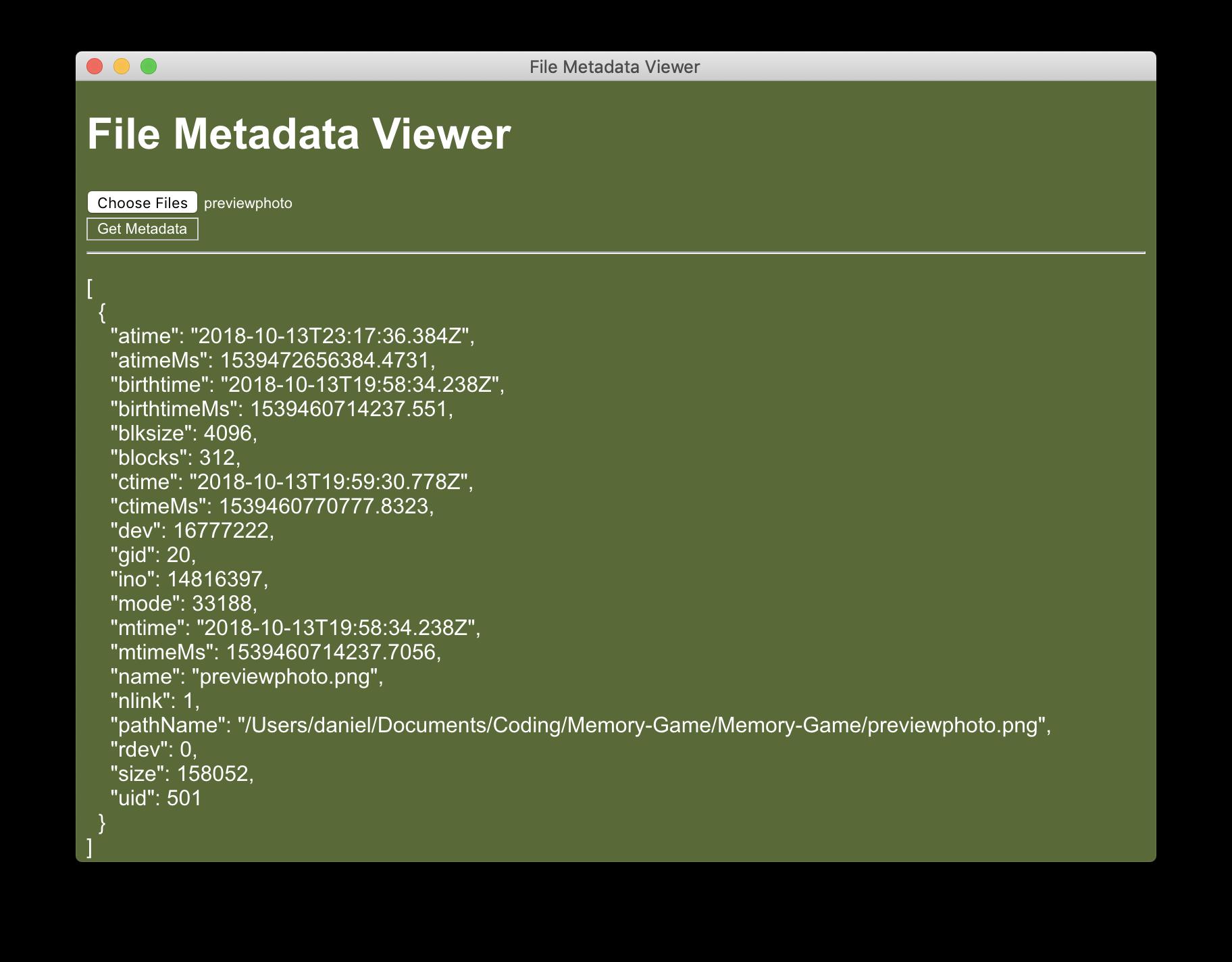 GitHub - barclayd/MetaData: Desktop app that presents a