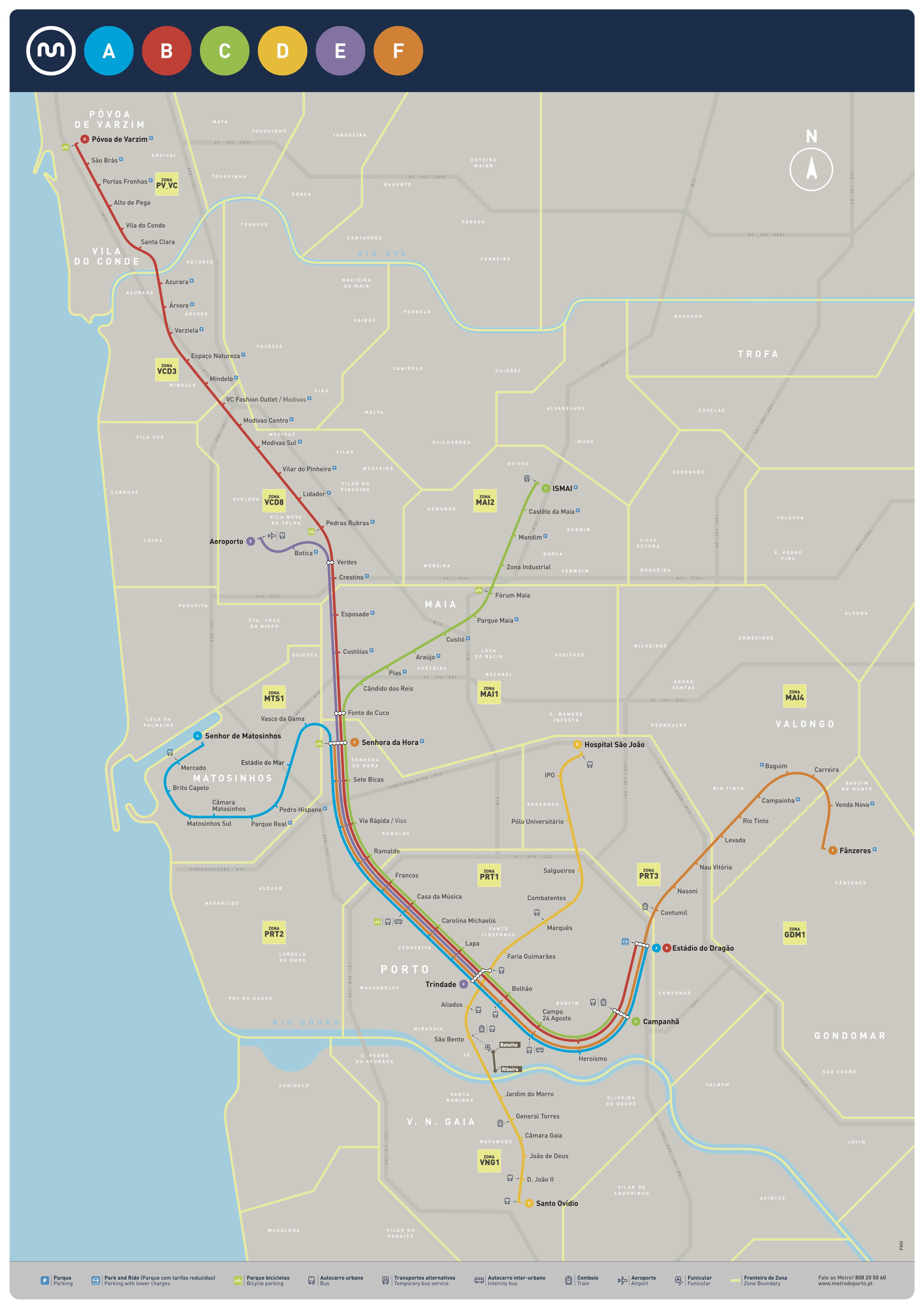Mapa do Metro do Porto