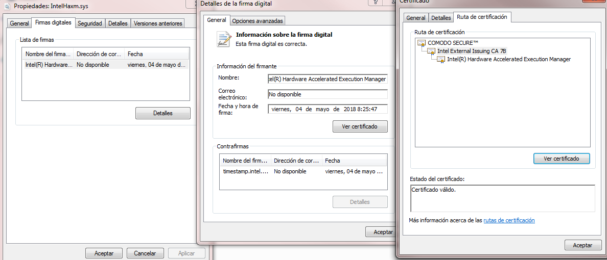 Not Digitally Signed driver · Issue #56 · intel/haxm · GitHub