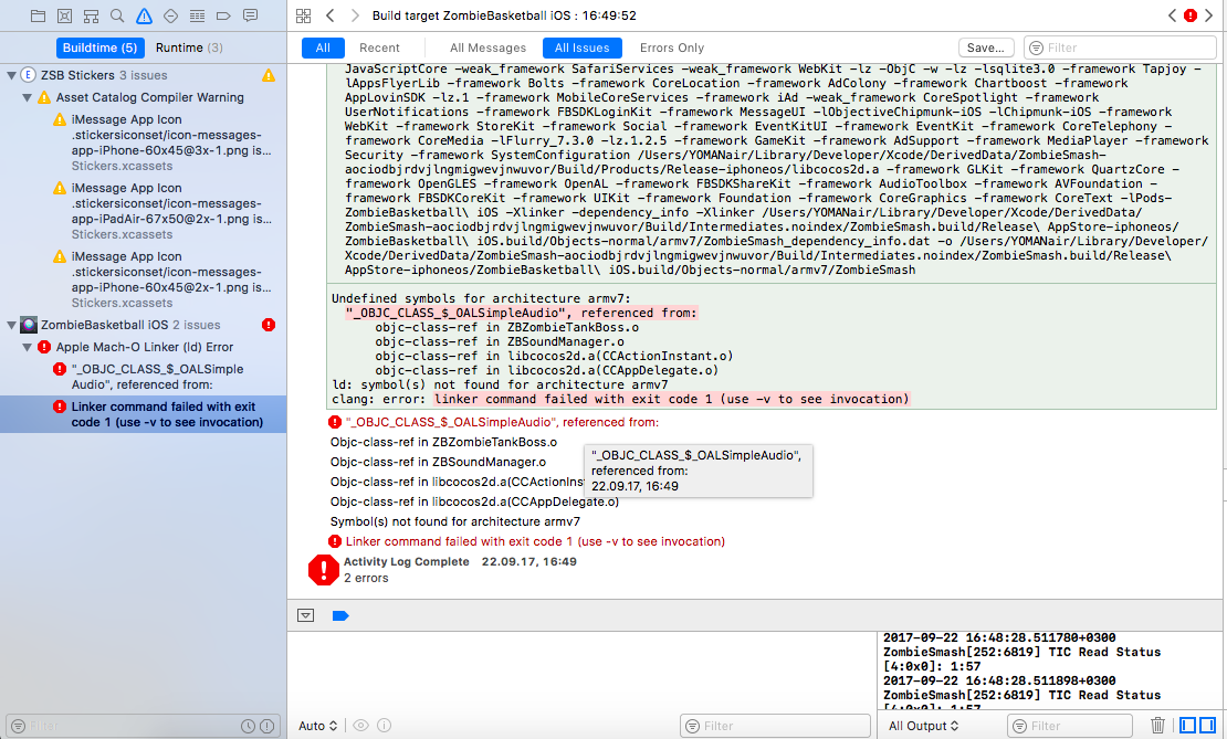 Crash in Xcode SDK 11 · Issue #103 · kstenerud/ObjectAL-for-iPhone