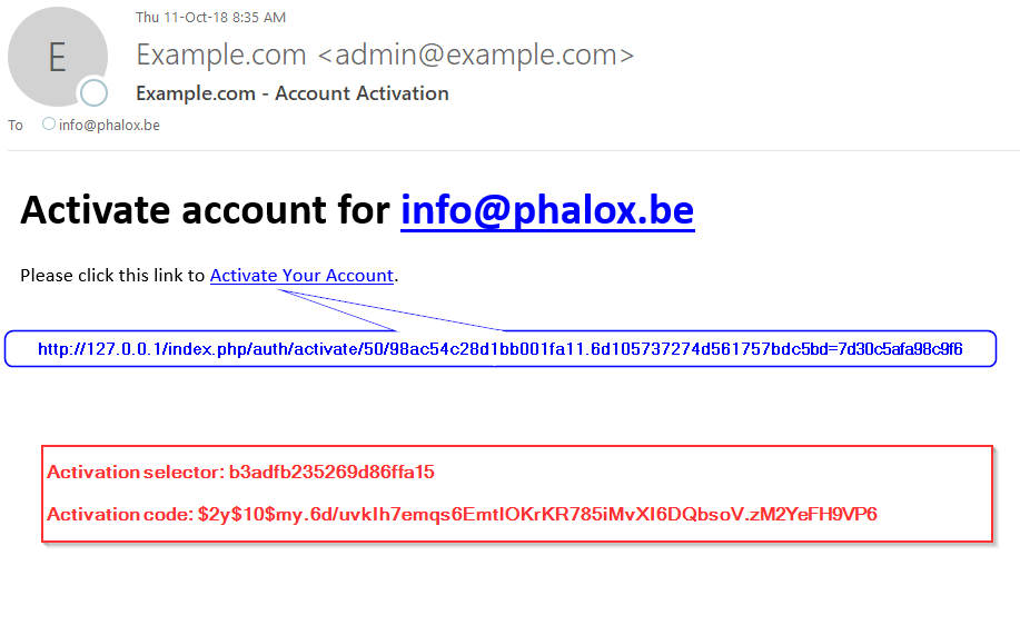 Activation codes are problematic to be used in a URL · Issue