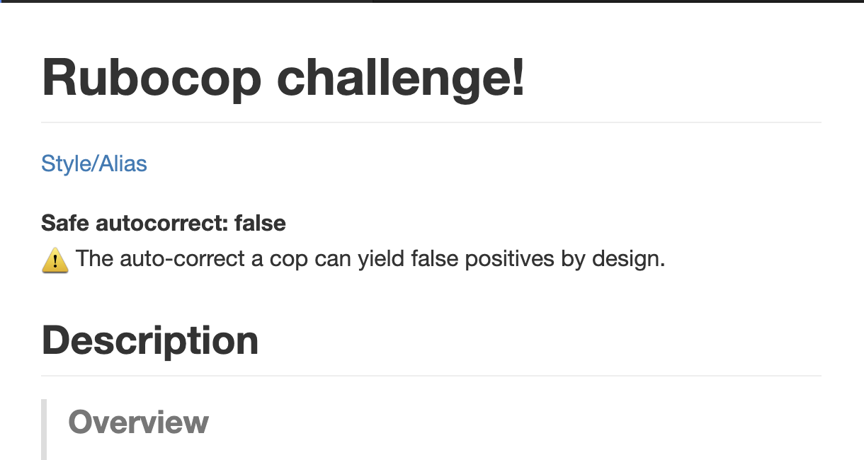 Add description whether the challenge is created by safe autocorrect or not by ryz310 · Pull Request #465 · ryz310/rubocop_challenger