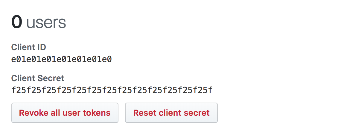 Client ID and Secret