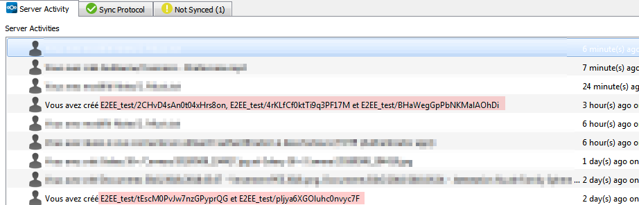 E2EE : Client creates encrypted files, messes with real one