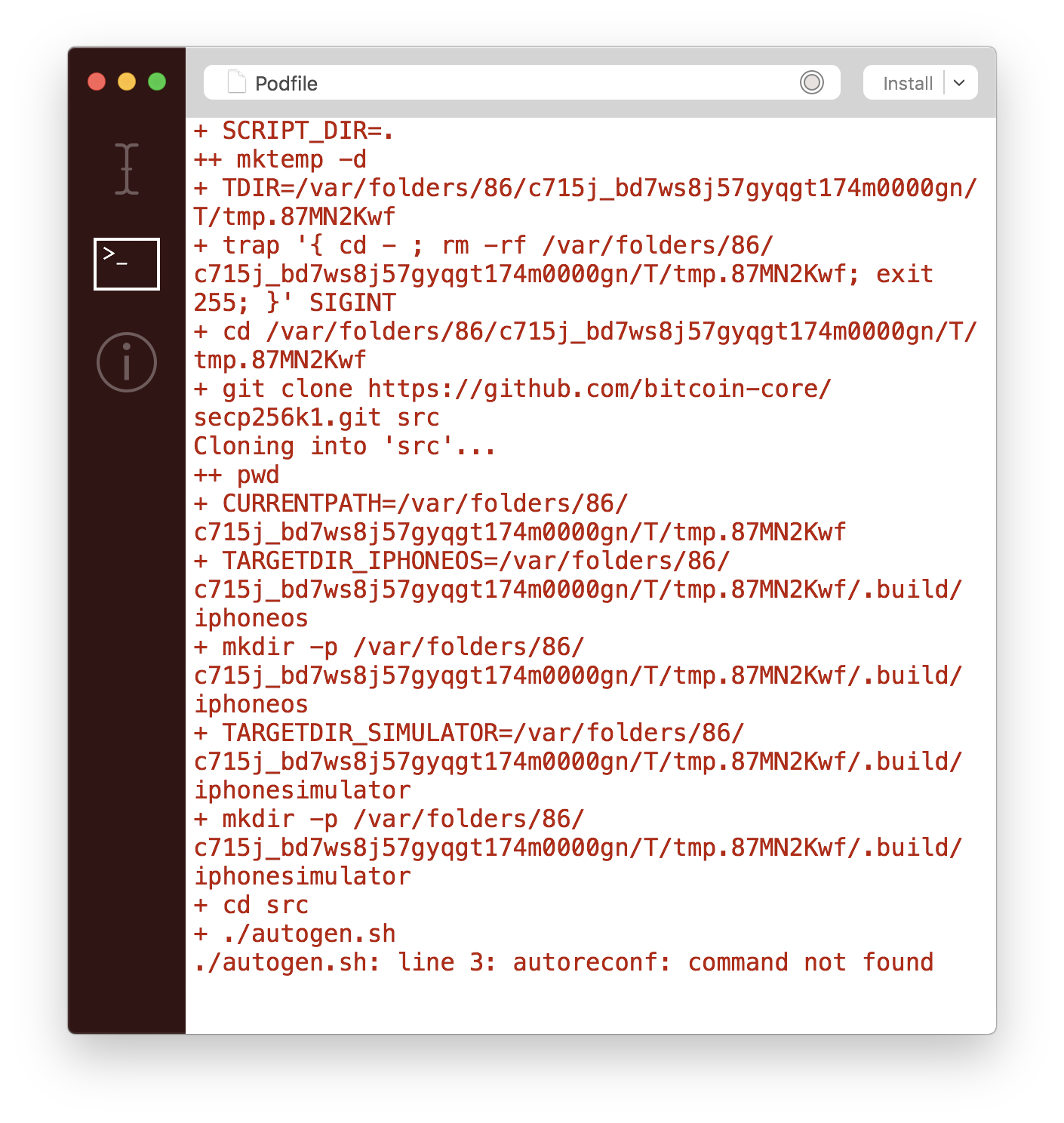 Problems with pod install · Issue #52 · yenom/BitcoinKit · GitHub