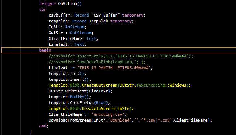 Encoding Issue on TempBlob Blob CreateInStream ? · Issue