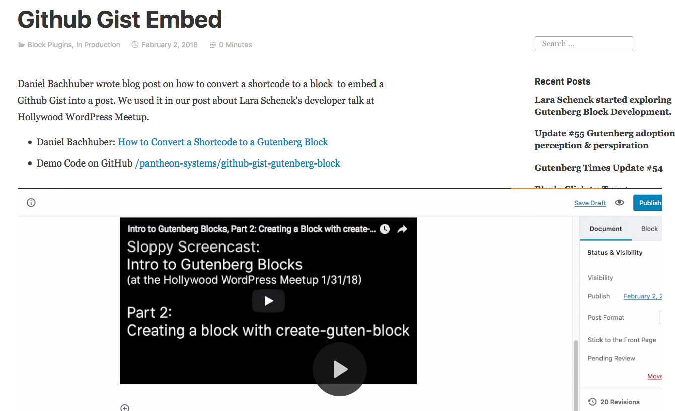 Video Block on doesn't stay in its lane on public view · Issue #4842