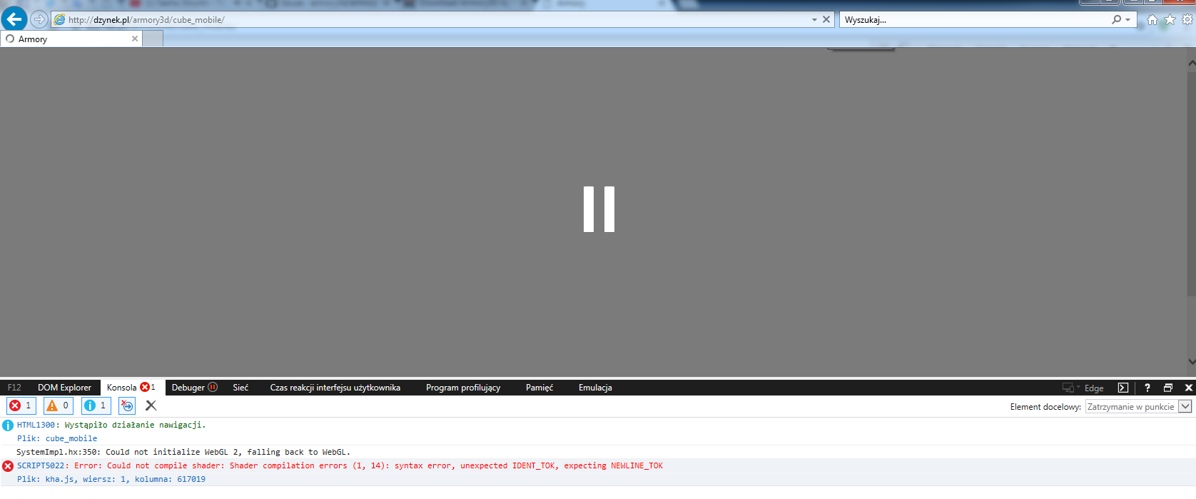 Publish Website Html5 Ios Not Work Ie11 Not Work Issue