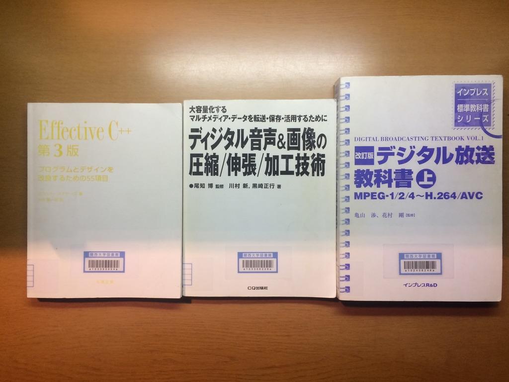 三種の神器 (C++, デジタル信号処理, コンテナ/コーデック)