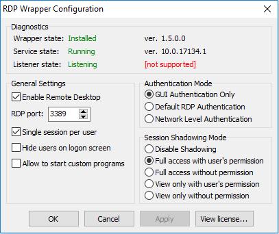Windows 10 v 1803 · Issue #474 · stascorp/rdpwrap · GitHub