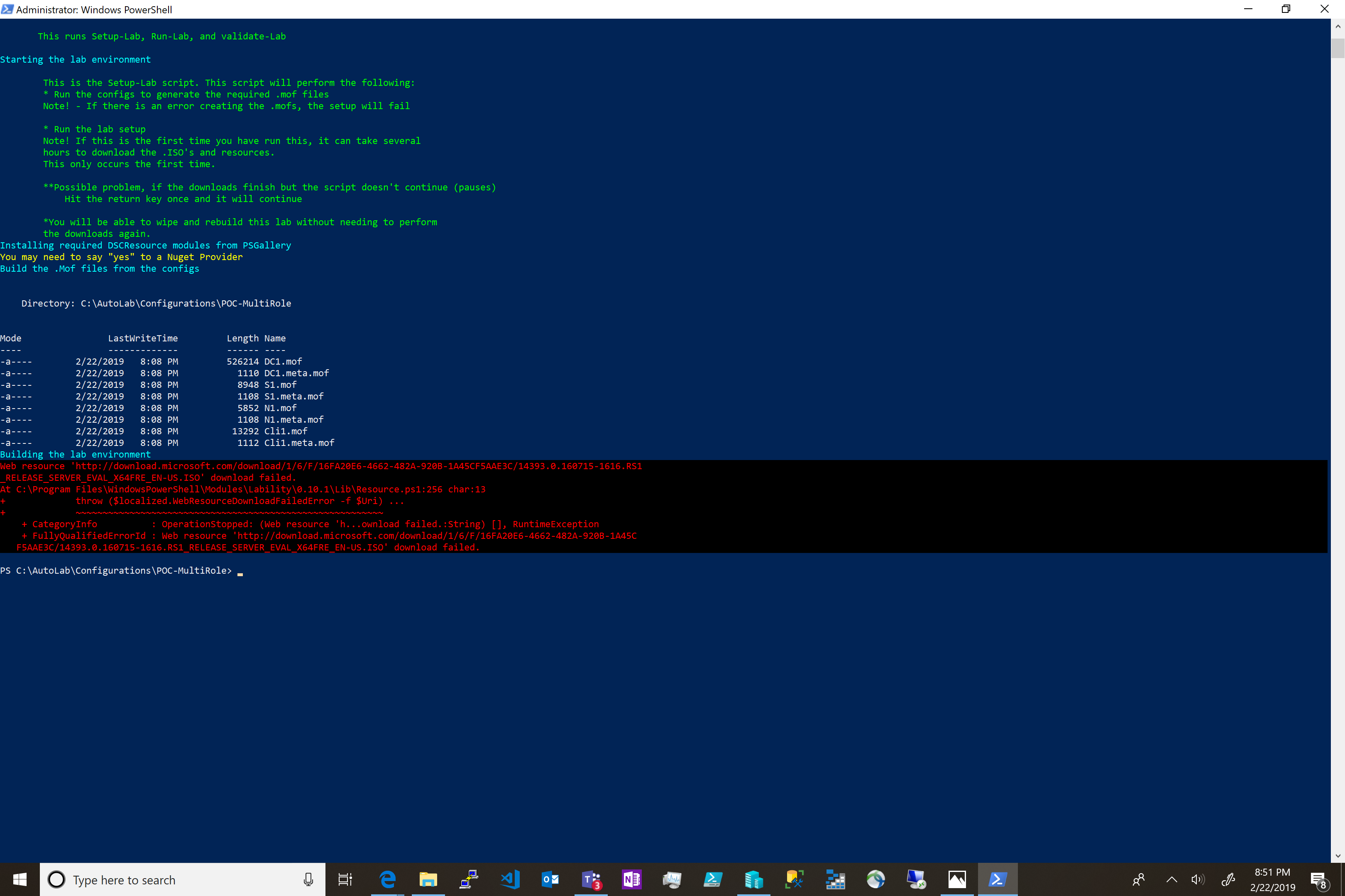 ISO download fail and no VM's are populated in Hyper-V · Issue #171