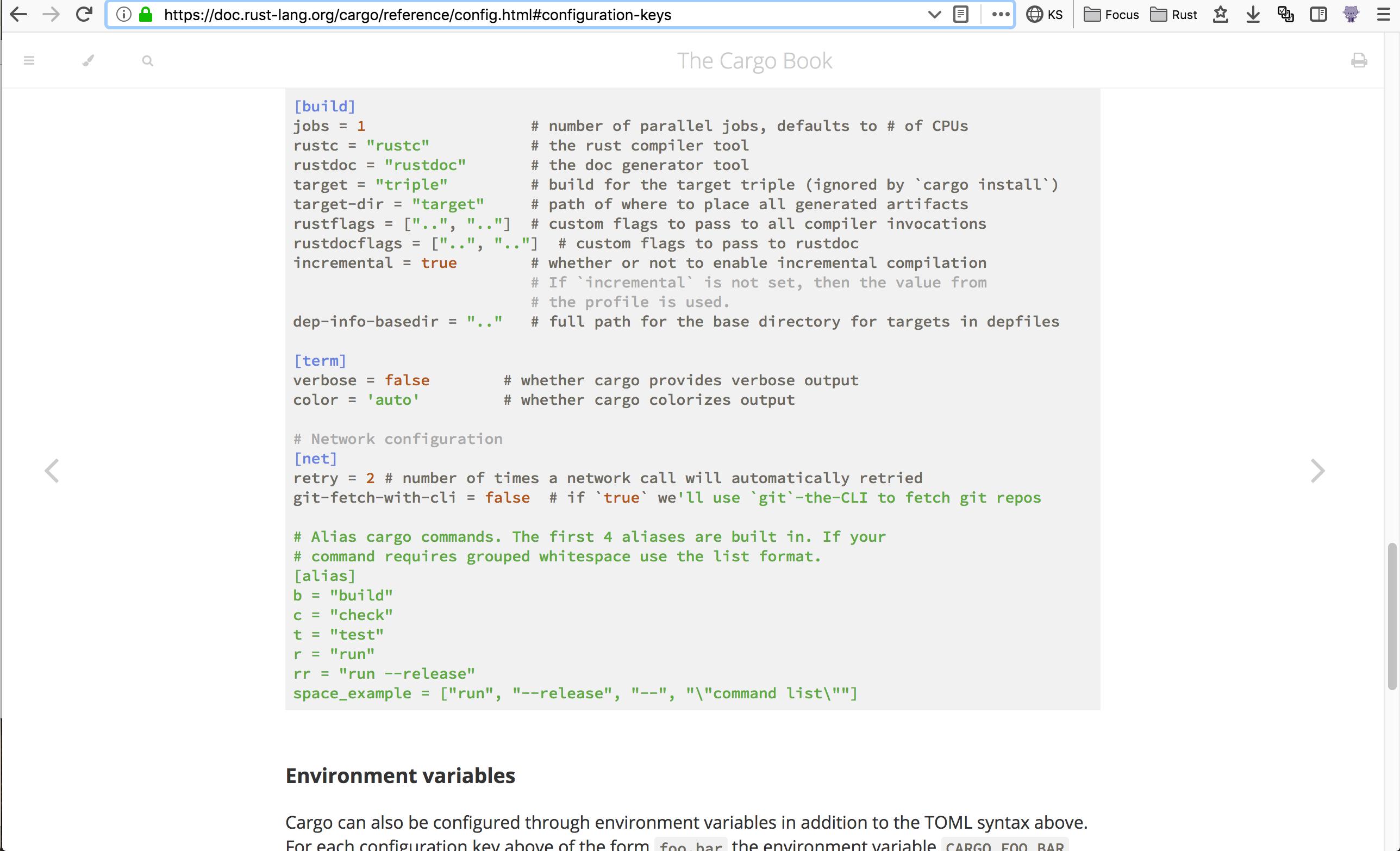 Book, config: TOML syntax highlighting broken · Issue #6932