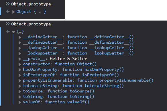 Object.prototype is an object