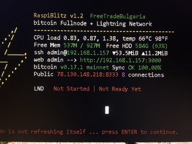 LND service not running · Issue #565 · rootzoll/raspiblitz