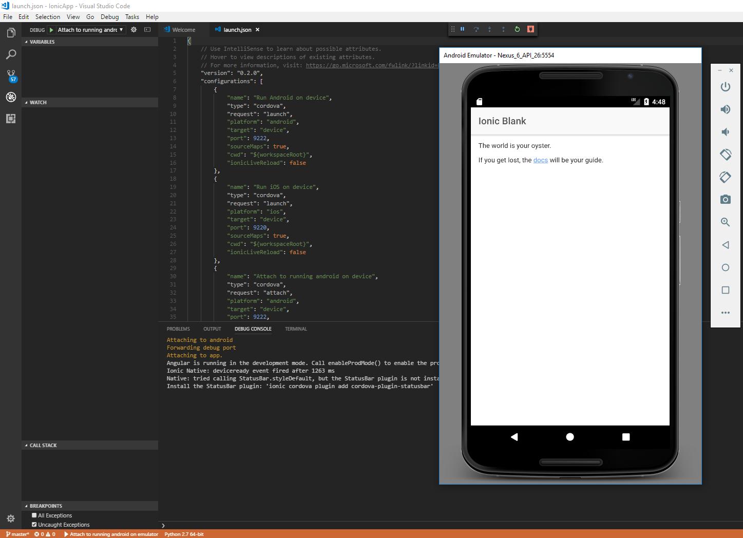 Run Android on emulator