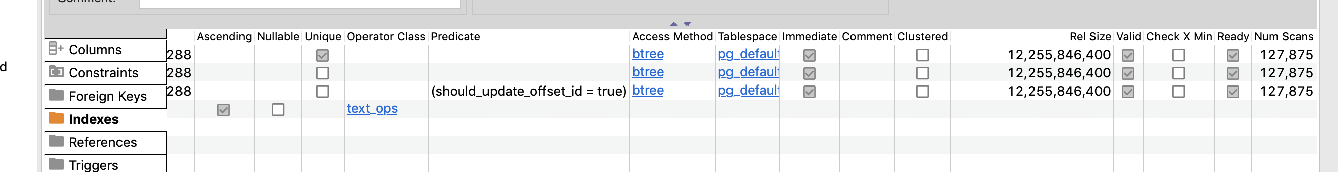 Postgres : Wrong Information on Index section · Issue #5295