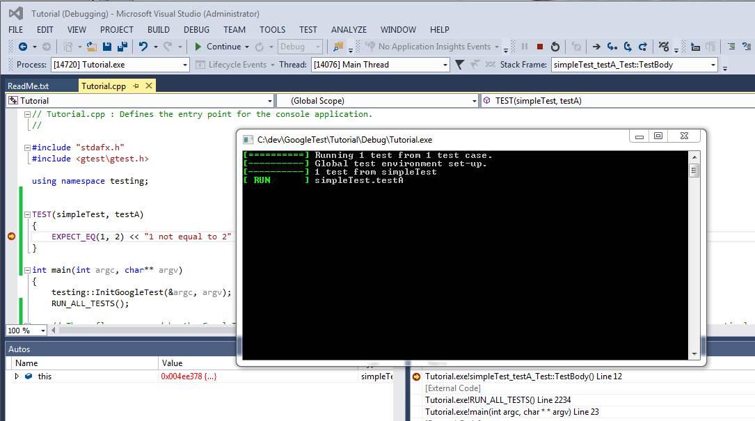 Debugging GTA experimental mode in VS throws access