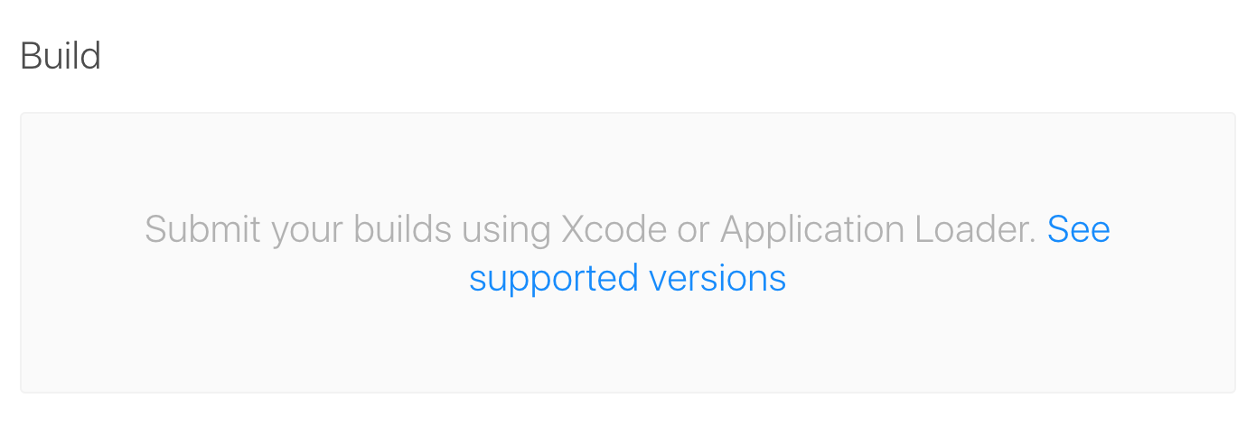 Distribute to App Store or TestFlight build no longer