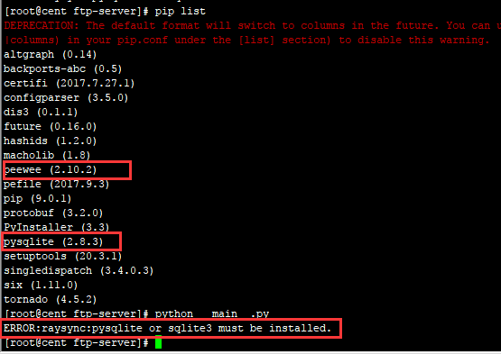 ERROR:raysync:pysqlite or sqlite3 must be installed  · Issue