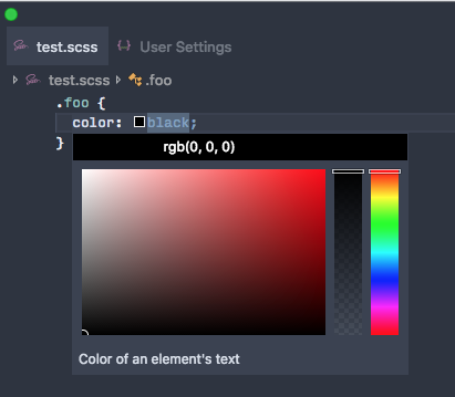 Shortcut For Opening Color Picker And Insert Color Of