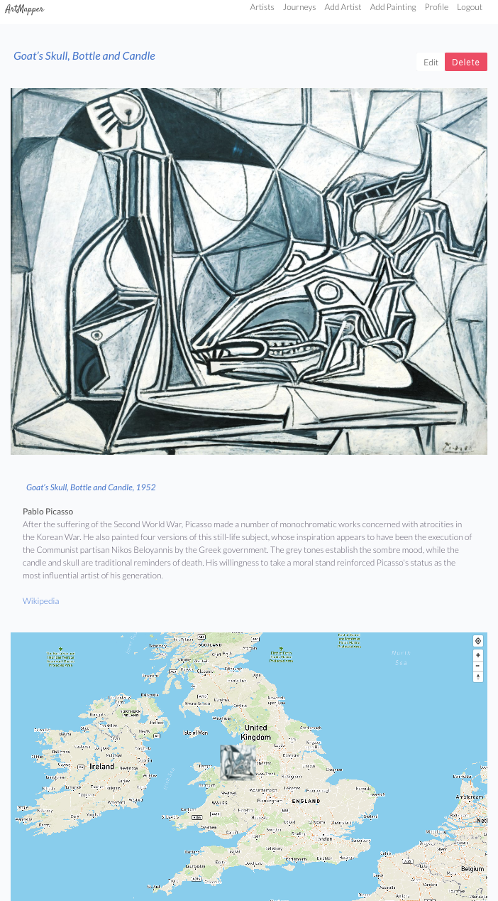 artmapper painting show page