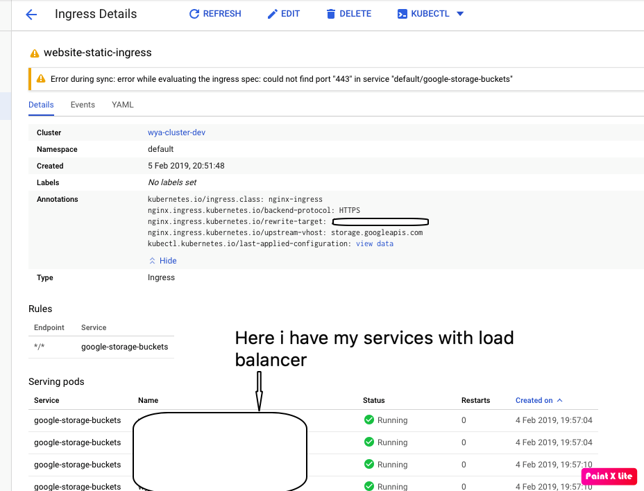 Use NGINX ingress controller with GCS bucket as a backend · Issue
